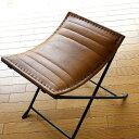 スツール アンティーク おしゃれ 椅子 いす イス チェア チェアー アイアンと本革の折りたたみスツール B