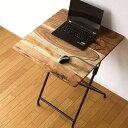 コンパクトテーブル 木製 天然木 60×60cm 正方形 リビングテーブル コーヒーテーブル ナチュラル シンプル おしゃれ カフェテーブル アイアンとウッドの...