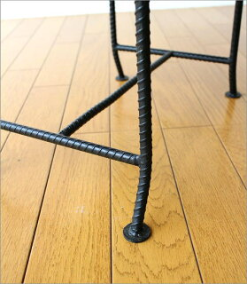 アイアンとウッドの組み木ローテーブル(3)