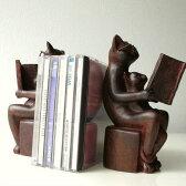 本立て ブックエンド 猫 ネコ ブックスタンド ねこ おしゃれ アンティーク風雑貨 卓上 インテリア 猫雑貨 ブックスタンド 猫置物 CDスタンド 猫 ブックスタンド かわいい 本立て 卓上 オブジェ 黒猫 置物 アジアン雑貨 アンティーク風 ネコのブックエンドB