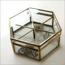 小物入れ ガラスケース ふた付き コレクションケース コレクションボックス アクセサリーケース アンティーク調 レトロ おしゃれ ガラスのフラップボックスB