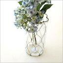 花瓶 ガラス シンプル おしゃれ 花器 フラワーベース ワイヤーネットのガラスベース