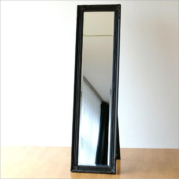 スタンドミラー アンティーク 全身 鏡 姿見 エレガント ヨーロピアン おしゃれ デザイン 面取り 全身鏡 全身ミラー リビング 寝室 部屋 玄関 スタンド アンティークなスタンドミラーBR