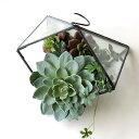 テラリウム ガラス 卓上 吊り下げ ハンギング 吊るす おしゃれ 観葉植物 小物 グリーン ディスプレイ 容器 ボタニカル インテリア ガラスポット アイアンとガラスのテラリウム A