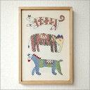 壁飾りウォールデコレーションフレーム刺繍刺し子手刺繍バングラディシュ雑貨インテリア雑貨ノクシカタ刺繍フレーム A