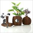 花瓶 天然木 一輪挿し 木製 フラワーベース 花瓶 ガラス 試験管 花器 おしゃれ 一輪挿し 花瓶 フラワーベース ナチュラルウッド 無垢 花瓶 フラワーベース インテリア雑貨 花瓶 ウッディーなユラユラベース ウォルナット