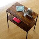 サイドテーブル 木製 アイアン おしゃれ ソファ ベッド テーブル ベッドサイド スリム ベッドサイ ...