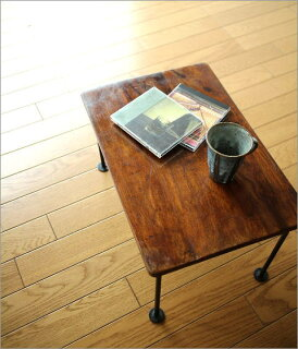 ミニローテーブルアイアン天然木製サイドテーブルコンパクトテーブル小さい低いおしゃれアジアン家具シンプルデザインモダンコーヒーテーブルノートパソコンカフェテーブルシーシャムスモールテーブル