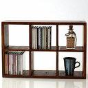 シーシャムウッドCDラック 天然木製 飾り棚 ディスプレイラック CDラック おしゃれ シ
