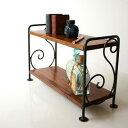 棚シェルフ木製飾り棚アイアンスパイスラックアンティークおしゃれ小物収納シンプルミニラック B