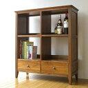 チーク無垢材 本棚 書棚 天然木製 無垢材 オシャレ A4 オープンラック 収納棚 ブック