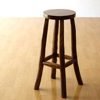 チーク原木スツールL(ハイスツールアジアン家具チーク材木製カウンターチェアー)