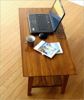 チークリビングテーブル110木製アジアン家具チーク材センターテーブル