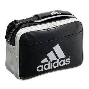 アディダス(adidas)エナメルショルダーバッグL(Z7679)AH8489黒/シルバー