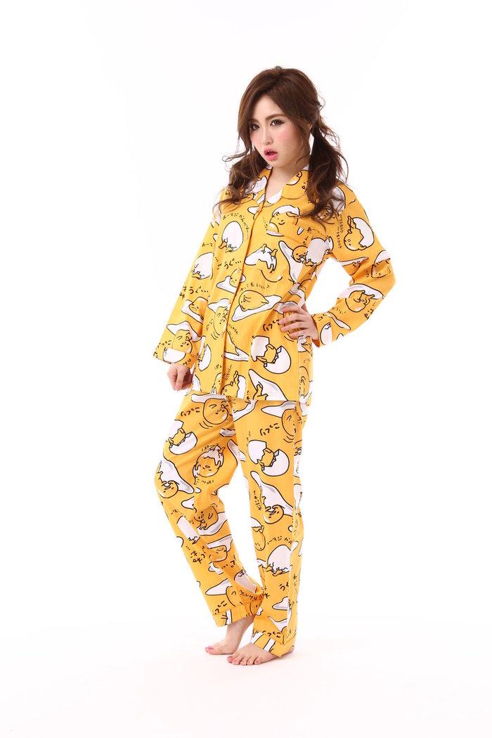 SAZACネガティブぐでたまシャツパジャマ/ぐでたまサンリオパジャマ半袖レディース女性