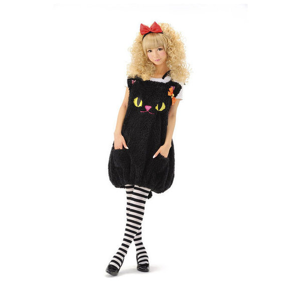 ふわもこキャット コスチューム コスプレ ねこ ハロウィン アニマル 衣装 大人 女性