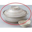 鍋 刷毛目 6号鍋(萬古焼) 高さ115mm×(手付・はみ出し部分含む)サイズ:217・口径:195/業務用/新品 /テンポス