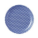 【山格子 19cm丸皿 青】丸皿 高さ28mm×直径:194【業務用】【グループB】