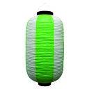 ビニール提灯 祭装飾 緑白 9号長 のぼり屋工房 9169/業務用/新品