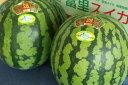 富里西瓜通信販売 千葉産。一果取りスイカ販売取寄。果物ギフト 2玉 L〜4L