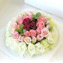 結婚祝いに、フラワーケーキアレンジメント【ローズdeケーキ(7号)】