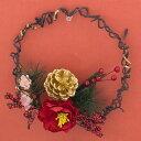 メーカー希望小売価格から50%OFF(半額)!!迎春お正月リース しめ縄正月 飾り 造花 アートフラワー直径18cm