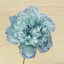 1本注文OK「ピオニーピック」ライトブルー造花 花材 資材花径11cm×長さ21cm
