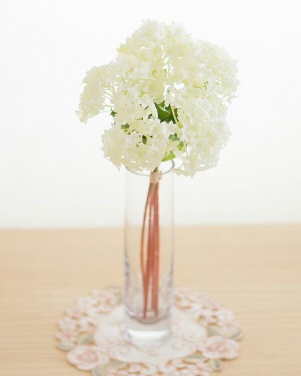 スノーボール 5本花束アートフラワー(造花)消臭抗菌 光触媒orテルクリン選択可花材 資材