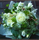 誕生日 お歳暮 開店祝い 送別 プレゼント おまかせ ホワイトブーケ花束 送別 花 人気ランキング 花ギフト 花束 結婚記念日 (誕生日 などにも) バラ 就任 送別 20 花束