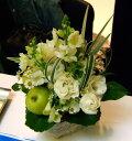 誕生日 お歳暮 開店祝い プレゼント おまかせ ホワイトフラワーアレンジメント 花 人気ランキング 花ギフト 花束 結婚記念日 (誕生日 などにも) バラ 就任 送別 53