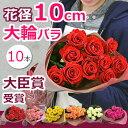 バラの花束 誕生日 結婚記念日のプレゼントに妻へ。プロポーズに。大輪の薔薇(ばら)をギフトに 送料無料(10本〜)