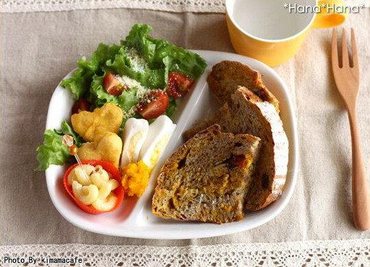 ホワイト ツイン ランチプレート 涼しげな白い食器 二つ仕切ランチプレート 【店内4000…...:hana2primitive:10002164