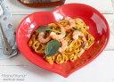 LOVEハート カレーパスタ皿 25cm 全4色//美濃焼 カレー皿 //お皿 おしゃれ キャッシュレス 還元