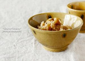 黄瀬戸貫入ドット 茶碗 12.5cm//美濃焼 和食器