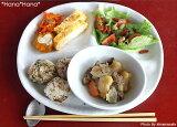 """10白色釉面总和午餐板?湿润菜""""分区Mitsudake确定[ランチプレートに♪白釉三ツ切10""""仕切皿]"""