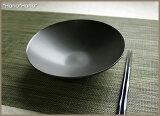 落ち着いた黒がスイーツをひきたてる・・・和カフェの黒☆ブラックシリーズ/シンプルサークル・16cm平鉢(黒)