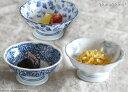 藍染 花型高台 小鉢 デザートカップ 12.1cm