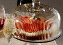 (おまけ対象)モナコ ガラスドーム ケーキスタンド ふた付き 【4,000円以上ご購入で送料無料+塩チョコクッキーおまけ】【同梱商品も送料無料】【新生活】
