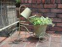 ジョ—ロ ジョウロ ガーデニング ガーデン 雑貨寄せ植え プランター 三輪車 アンティーク【花遊び】『ジョウロ三輪車♪Planter』