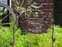 ガーデニング雑貨 ガーデン バード フェンスアイアン 寄せ植え 雑貨 アンティーク【花遊び】『チャープバードローアークピック』≪アンティークブラウン≫