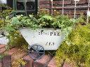 荷車 カート プランター アイアン 寄せ植えガーデニング ガーデン 雑貨 アンティーク【花遊び】『ガーデン♪プレホワイトカート』【3月上旬のお届け予定です】