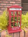 荷車 カート プランター アイアン 寄せ植えガーデニング ガーデン 雑貨 アンティーク【花遊び】『デコール♪テレフォンボックス』