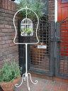 バード 鳥かご ケージ インテリア プランター アイアン 寄せ植えガーデニング ガーデン 雑貨 アンティーク【花遊び】『バードケージ&ハンギングスタンド』他の商品との同梱ご希望でも、別途送料が発生致します。