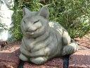 ガーデニング ガーデン ねこ キャット イングリッシュ 英国 魔除けグッズ ストーン製【花遊び】『English Small Rundies Cat』
