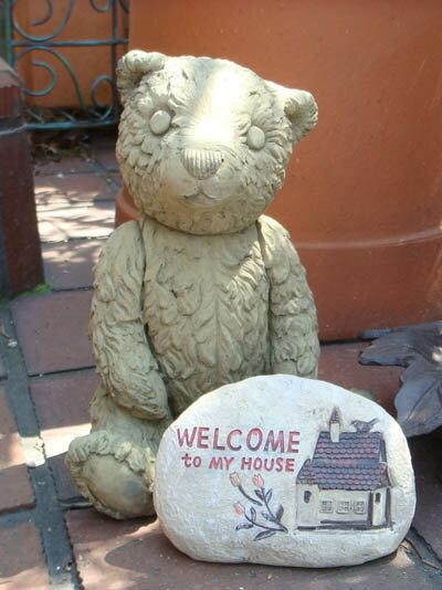 ガーデニング ガーデン ベアー くま アニマル イングリッシュ 英国 雑貨 ストーン製【花遊び】『Small Mother Bear』