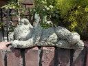 ベアー くま イングリッシュ 英国ガーデニング ガーデン ストーン製 送料無料【花遊び】『Teddy Bear・スリーピングベアー』