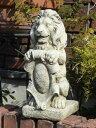 ガーデニング ガーデン 雑貨『English Sitting Shield Lion』