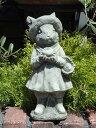 イングリッシュ 英国 ガーデニング ガーデン 雑貨 ストーン製『English Straw hat Rabbit』