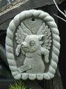 ガーデニング 雑貨 ガーデン 英国 ストーン製『English Angel Pig Plate』