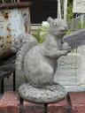 ガーデニング ガーデン 英国 雑貨 ストーン製『English Sitting Squirrel』